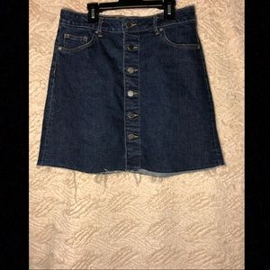 H&M Button Up Denim Skirt